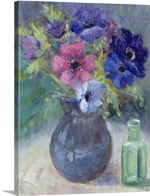 Anemones (oil on canvas)