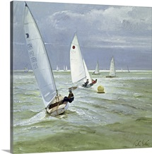 Around the Buoy (oil on canvas)