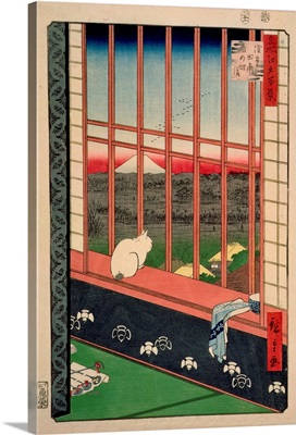 Asakusa Rice Fields During the Festival of the Cock, c.1857