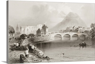 Ballina, County Mayo, from 'Scenery and Antiquities of Ireland'