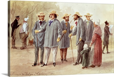 Balzac and Friends at the Ville dAvray in 1840, c.1880