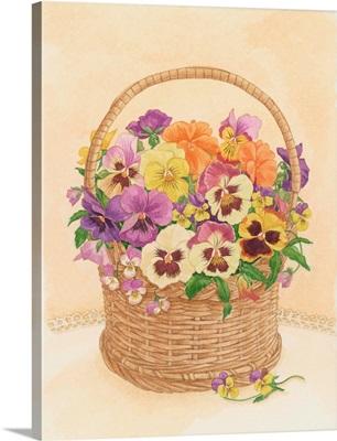 Basket of Pansies, 1998