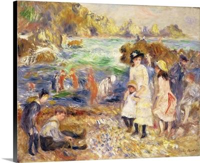 Beach Scene, Guernsey (Enfants Au Bord De La Mer A Guernsey) 1883
