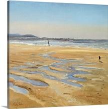 Beach Strollers (oil on canvas)