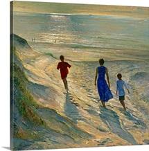 Beach Walk, 1994 (oil on canvas)