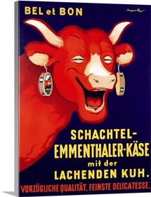 'Bel et Bon: Schachtel- poster advertising cheese, c.1929 (colour litho)