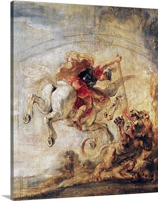 Bellerophon Riding Pegasus Fighting the Chimaera, 1635