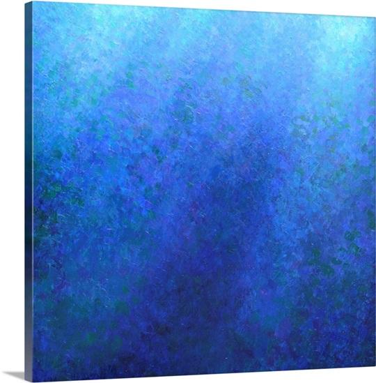 Big blue wall art by jeremy annett big blue canvas