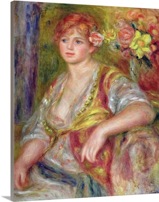 Blonde woman with a rose, c.1915-17