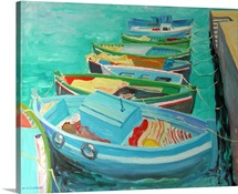 Blue Boats, 2003 (oil on board)