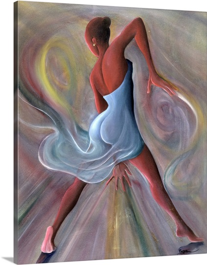 Blue Dress (oil on canvas)