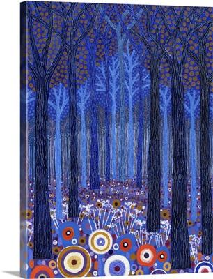 Blue Forest, 2011, (acrylic on canvas)