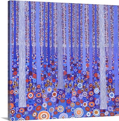 Blue Orange Forest, 2015, (acrylic on canvas)