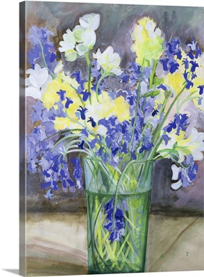 Bluebells and Yellow Flowers, 1994