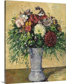 Bouquet of Flowers in a Vase, c.1877 (oil on canvas)