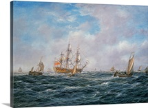 British Man-o-War and Other Craft, c.1740