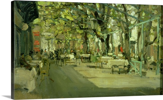 Cafe in Yalta, 1905 (oil on canvas)
