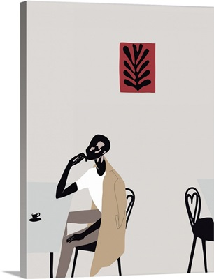 Cafe Scene With Matisse, 2016