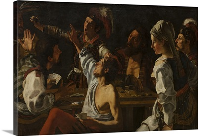 Card and Backgammon Players, Fight over Cards, c. 1620-30