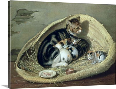 Cat with Her Kittens in a Basket, 1797