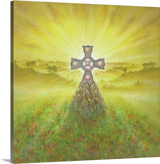 Celtic Cross (acrylic on canvas)