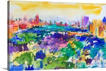 Central Park, New York, 2011 (w/c on paper)