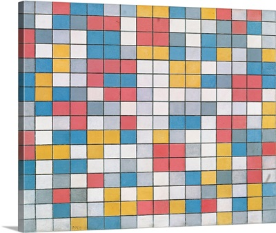 Checker Board Composition With Light Colours