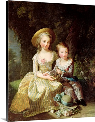 Child portraits of Marie-Therese-Charlotte of France (1778-1851)