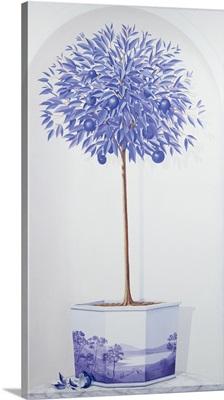 China Blue Tree set in a Niche
