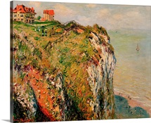 Cliff at Dieppe, 1882 (oil on canvas)