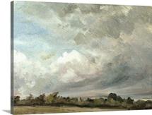 Cloud Study, 1821 (oil on paper on oak panel)