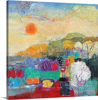 Colours of Summer 2014 acrylic/ paper collage