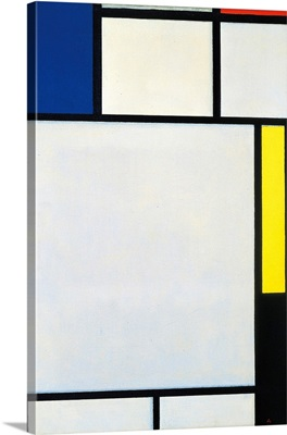 Composition With Blue, Red, Yellow And Black