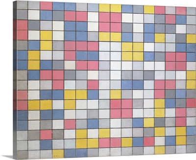 Composition With Grid 9: Checkerboard Composition With Light Colours