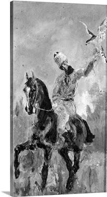 Comte Alphonse de Toulouse Lautrec (1838 1913) 1881 (oil on canvas) (b/w photo)