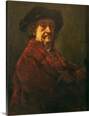Copy of a Rembrandt Self Portrait, 1869