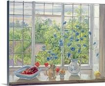 Cornflowers and Kitchen Garden