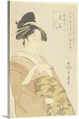 Courtesan Hanao_gi of the O_giya House, 1793-1794