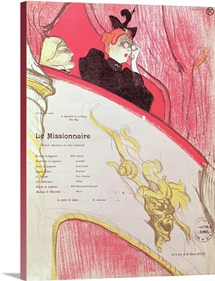 Cover of a programme for Le Missionaire at the Theatre Libre, 1893 94