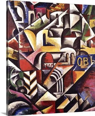 Cubist cityscape, 1914