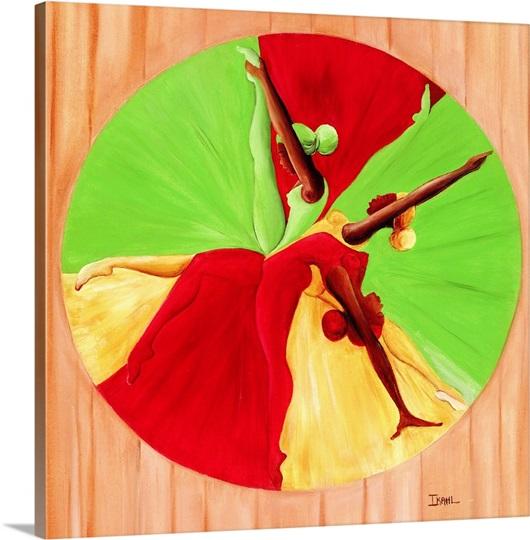 Dance Circle, 2002 (oil on canvas)