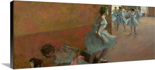 Dancers Ascending a Staircase, c.1886 88 (oil on canvas)