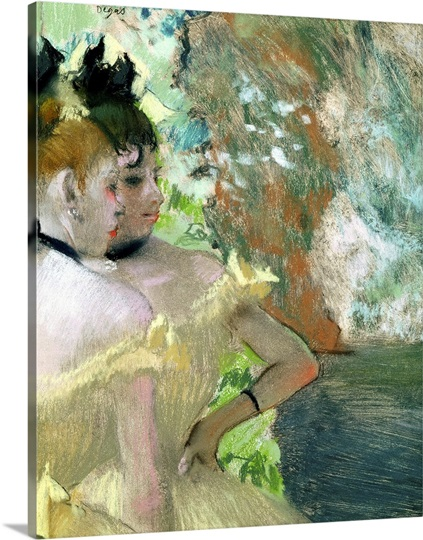 Dancers in the Wings (pastel on paper)