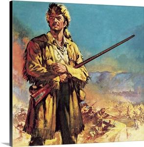 Davy Crockett Hero Of The Alamo Wall Art Canvas Prints