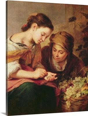 Detail of The Little Fruit-Seller, 1670-75
