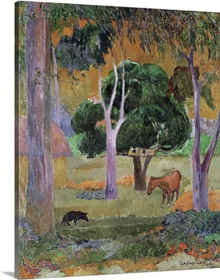 Dominican Landscape or, Landscape with a Pig and Horse, 1903