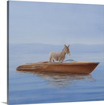 Donkey in a Riva, 2010 (acrylic on canvas)