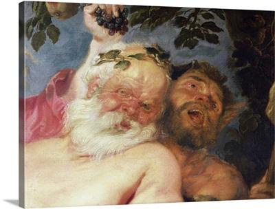 Drunken Silenus Supported by Satyrs, c.1620