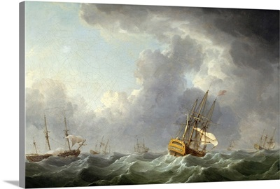 English Ships Running Before a Gale