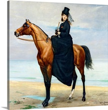 Equestrian Portrait of Mademoiselle Croizette, 1873 (oil on canvas)